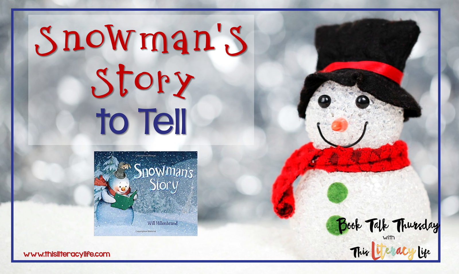 Wordless picture books are perfect for helping students with many different skills. Snowman's Story is a fun wordless picture book for students of all ages.