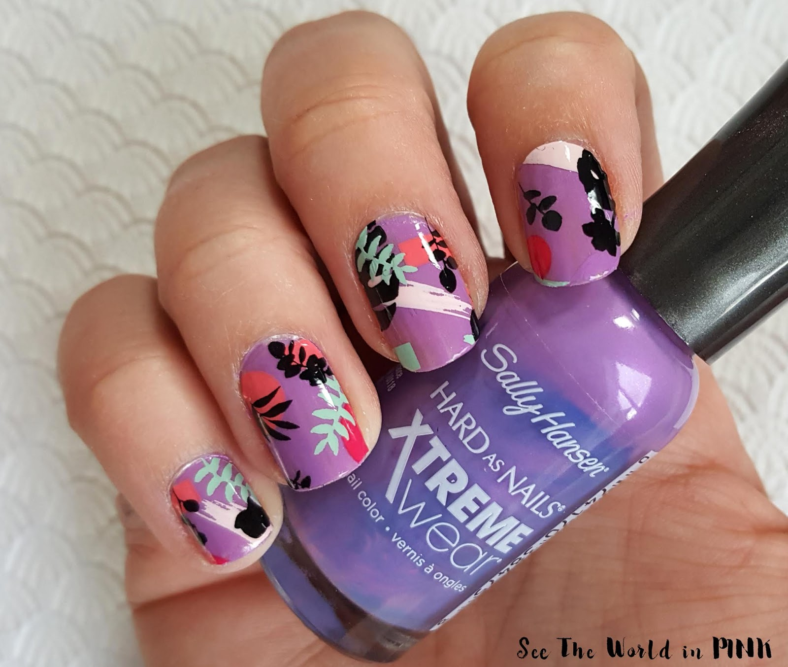 Manicure Monday - Purple Tropicana Nails!