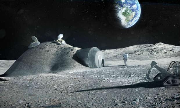 Simulação de colonização da Lua