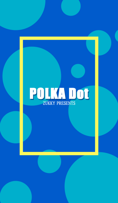 POLKA Dot Turquoise blue