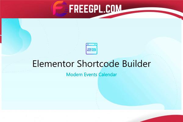 Elementor Shortcode Builder for MEC Nulled Download Free