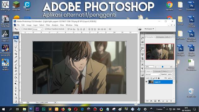 Aplikasi ini bisa digunakan sebagai alternatif/pengganti Adobe Photoshop