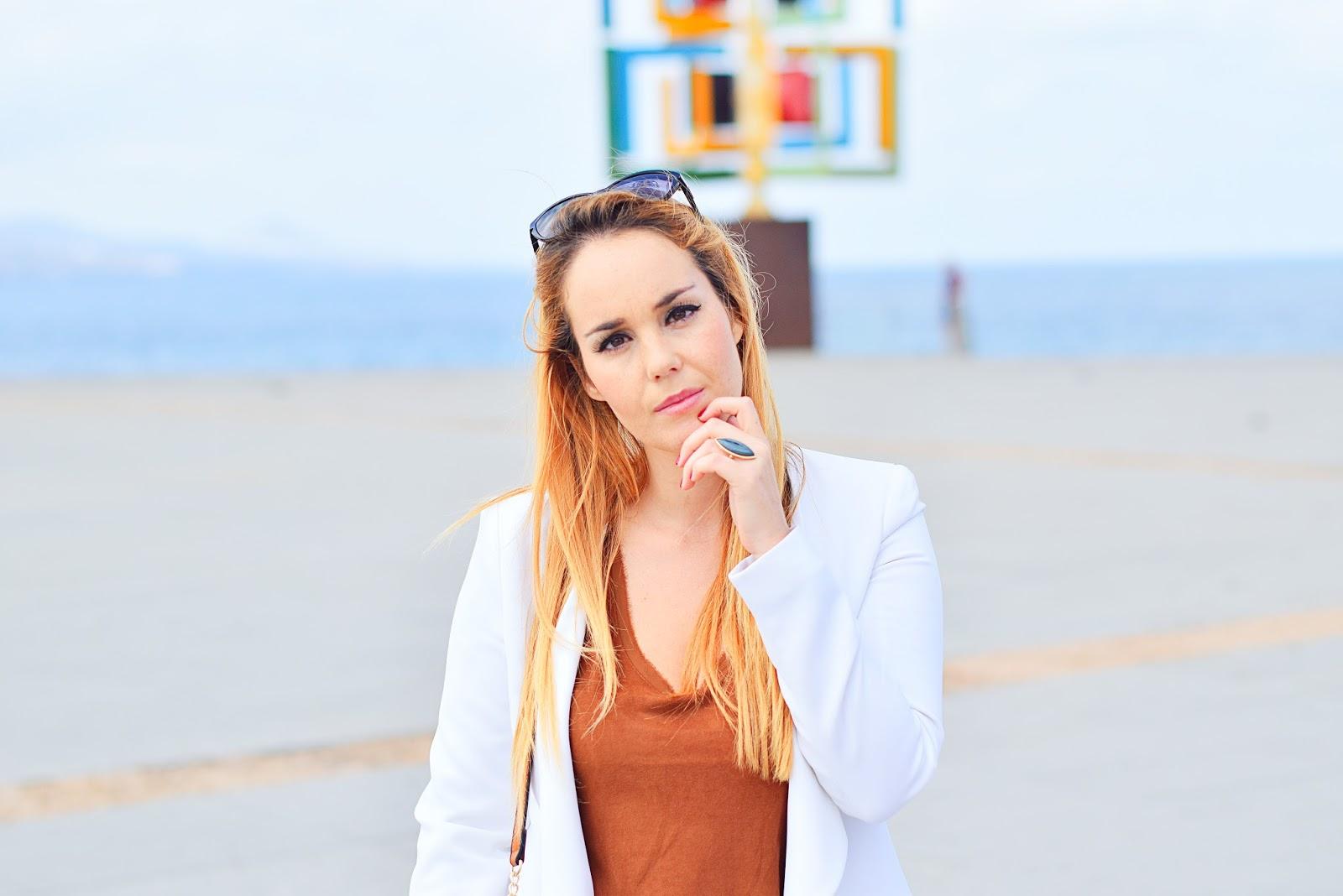 nery hdez, las palmas, look de diario,  parfois, white blazer