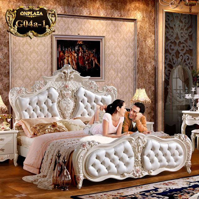Giường ngủ tân cổ điển cho phòng ngủ sang trọng