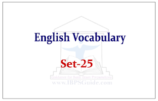 English Vocabulary Set-25 (with meaning and example)