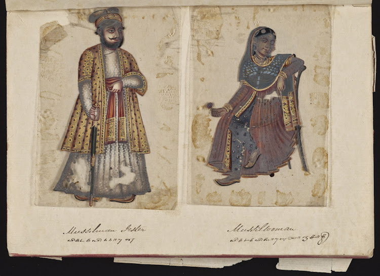 Muslim Jester and Muslim Woman