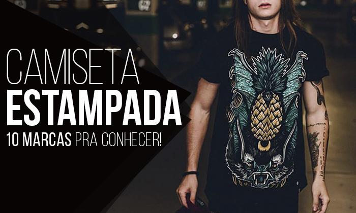 Macho Moda - Blog de Moda Masculina  Camiseta Estampada Masculina ... c717f8d23bdaa