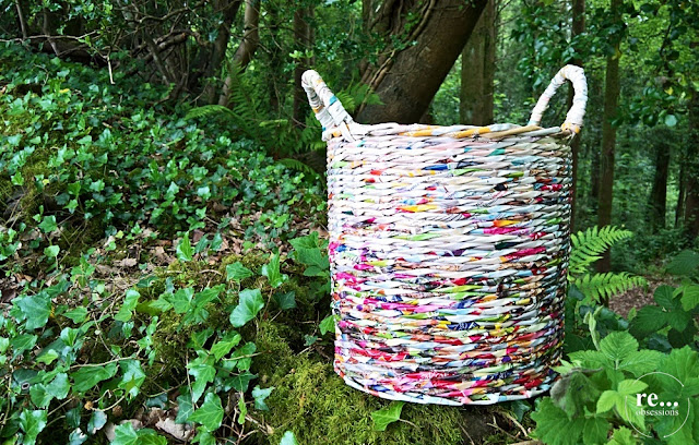 recycle, upcycle, newspaper basket, wicker paper, basket, koszyk, papierowa wiklina
