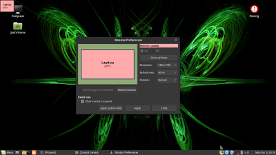 Mengatur Resolusi dan Rotasi di Linux Mint