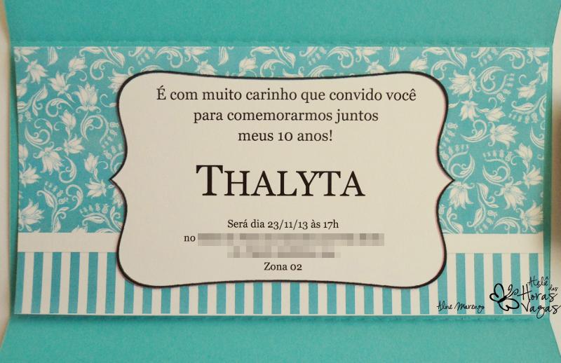 convite artesanal infantil aniversário tiffany azul turquesa menina delicado chique sofisticado