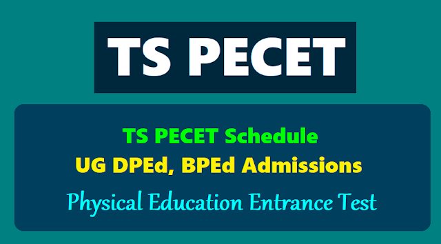 ts pecet 2019,bped ugdped cet 2019,hall tickets,results,online application form,physical education entrance test,telangana pecet,exam date,last date,