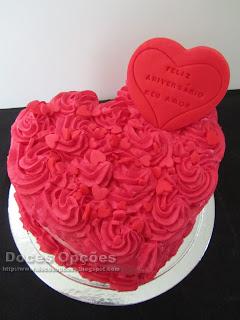 bolo formato coração bragança