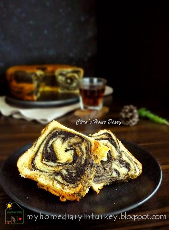 My Best Marble Butter Cake / Resep Bolu Marmer jadul   Çitra's Home Diary. #marblebuttercake #poundcake #buttercake #bolujadul #marmercake #marblecake #coffeecake #resepbolujadul
