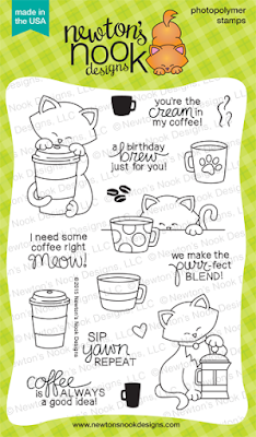 Newton Loves Coffee Stamp set by Newton's Nook Designs #newtonsnook