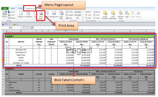 Cara Print Di Microsoft Excel 2010 (4)
