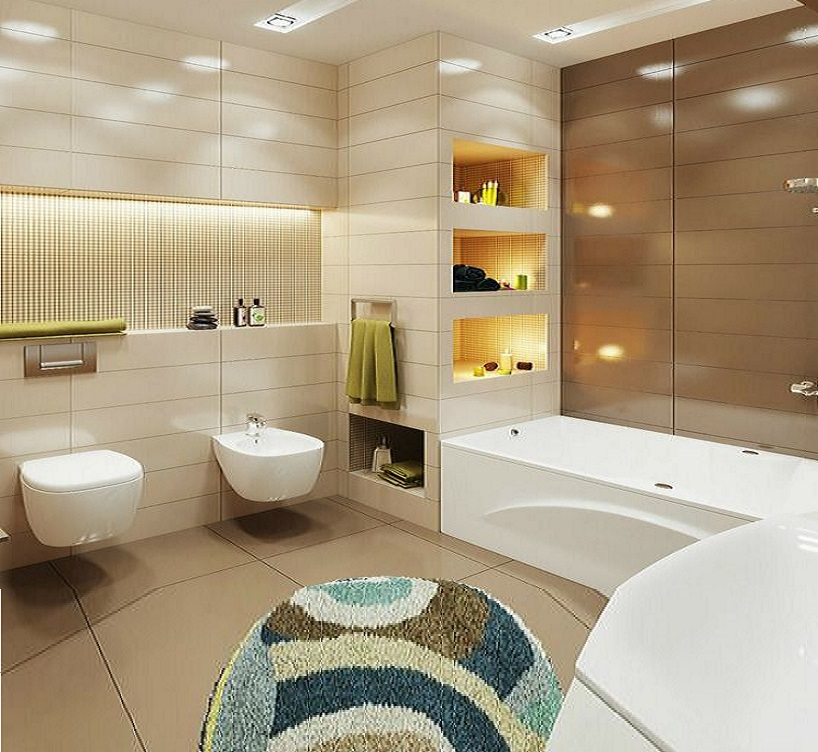 55 Modern Small Bathroom Design Makeover Ideas 2019