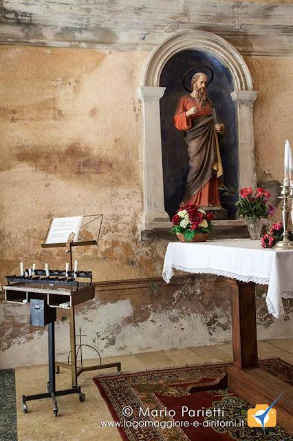 Piero di Curiglia, interno della chiesetta