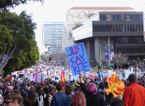 WomenS March LA Just Say Roe sign