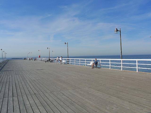 molo w Jastarni, widok na morze