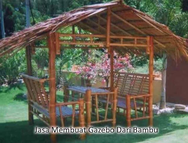 jasa membuat gazebo dari bambu