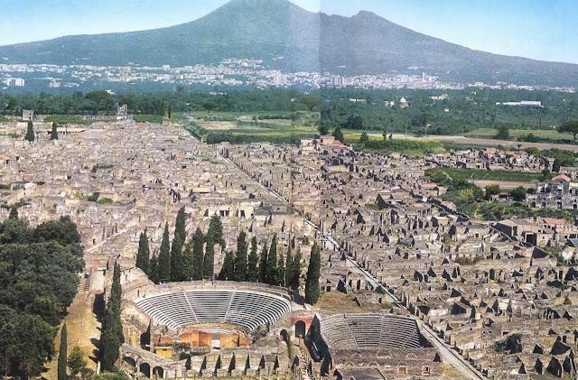 Los restos arqueológicos de la ciudad de Pompeya