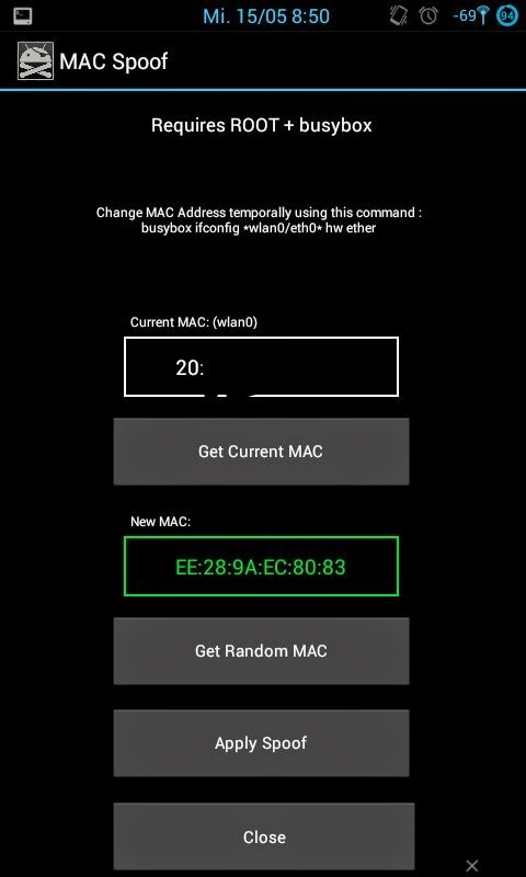 Change/Spoof Mac Address of your Android Phone