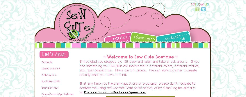 71345e9e6 Sew Cute Boutique...simply adorable