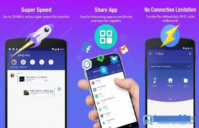 T Share : une application pour partager facilement entre Android, PC, Mac et iOS