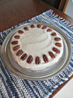 Fannie Farmers Cottage Pudding Cake with Browned Butter Frosting.