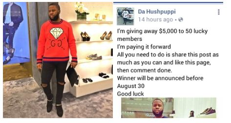 Hushpuppi Promises to Give $5000 To 50 Lucky People... (See Details)