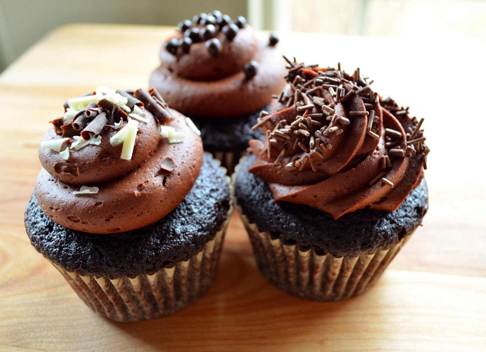 Basil: Chocolate Cupcakes with Chocolate Buttercream Frosting