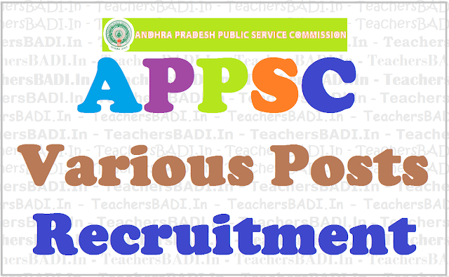 APPSC jobs,Civil Assistant Surgeons, Recruitment 2017