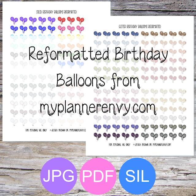 Free Printable Reformatted Birthday Balloons Printable from myplannerenvy.com