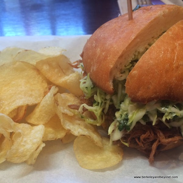 Spicy Hog sandwich at Southie in Oakland, California