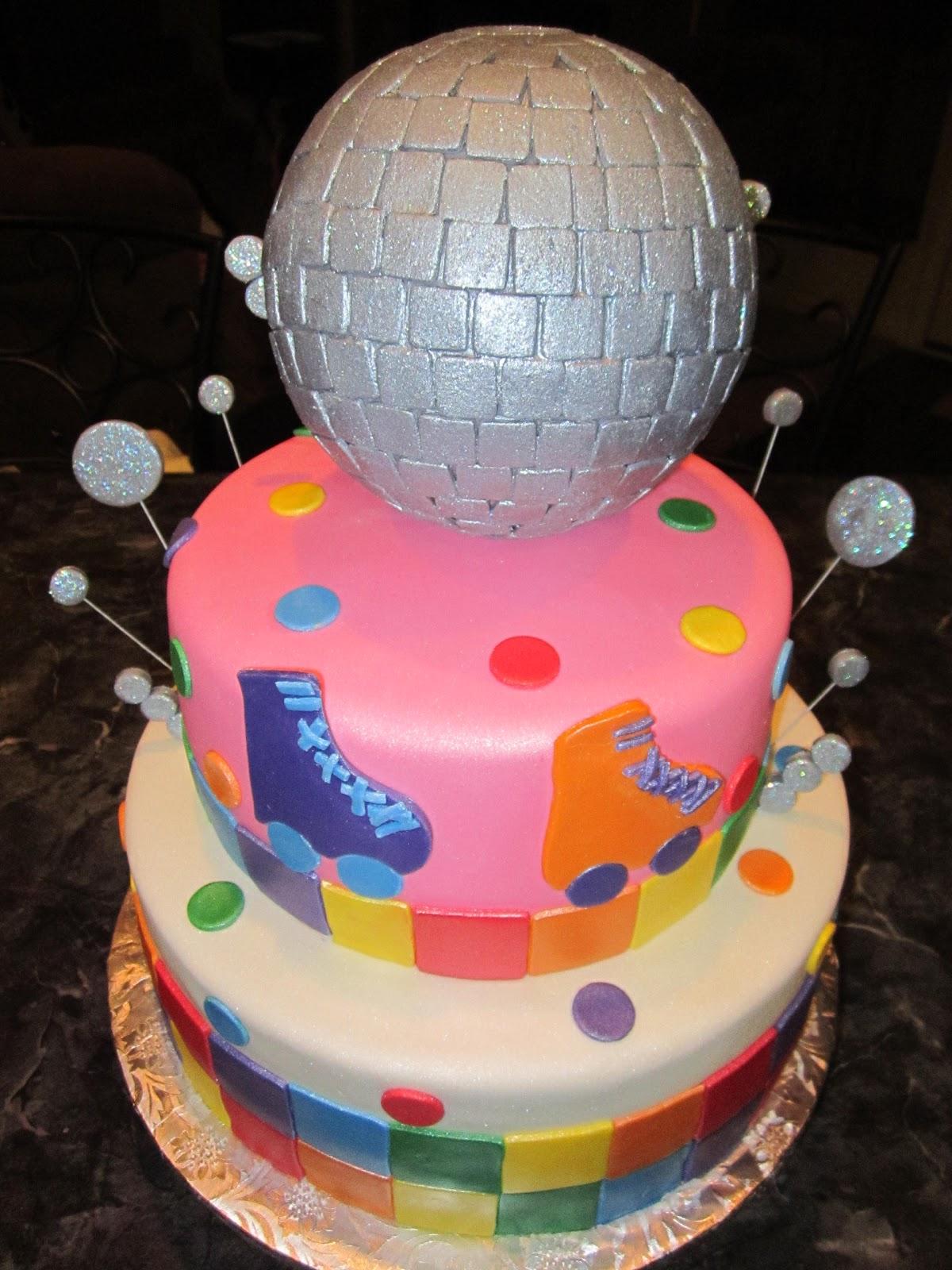 Mymonicakes Roller Skate Disco Ball Cake
