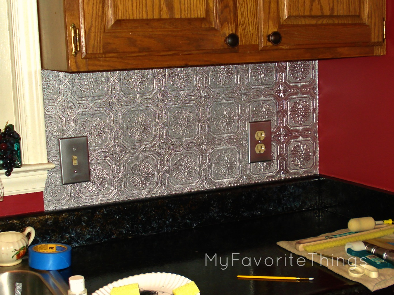 My Favorite Things Quot Punched Tin Quot Backsplash