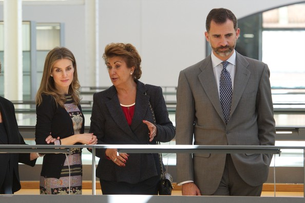 "Crown Prince Felipe of Spain and Crown Princess Letizia of Spain attend the inauguration of ""Casa del Lector"" in Madrid, Spain"