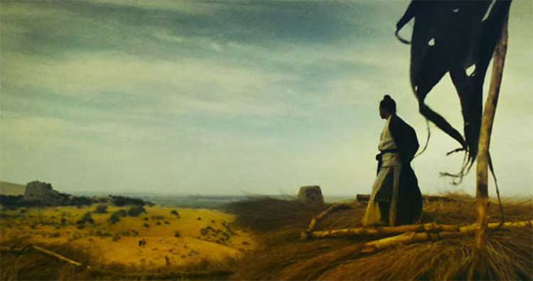 A beautiful exterior shot from Wong Kar-Wai's Ashes of Time.