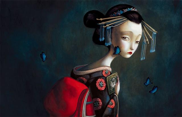 Imagen de Los Amantes Mariposa libro escrito e ilustrado por el artista francés Benjamin Lacombe