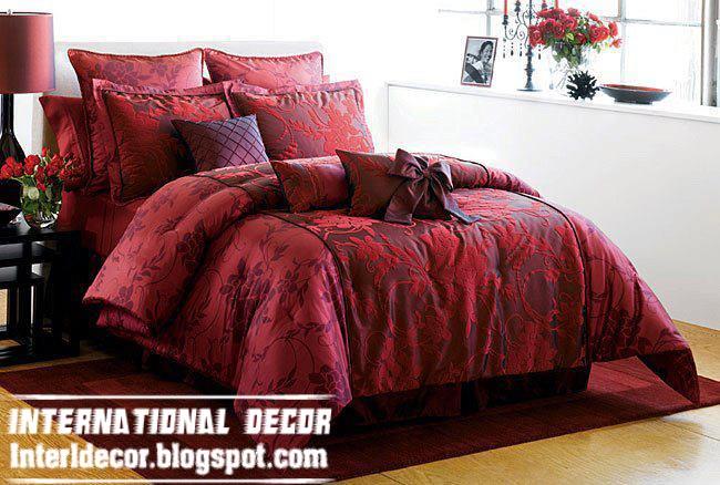 Modern Red Duvet Cover Sets Dark Covers Model