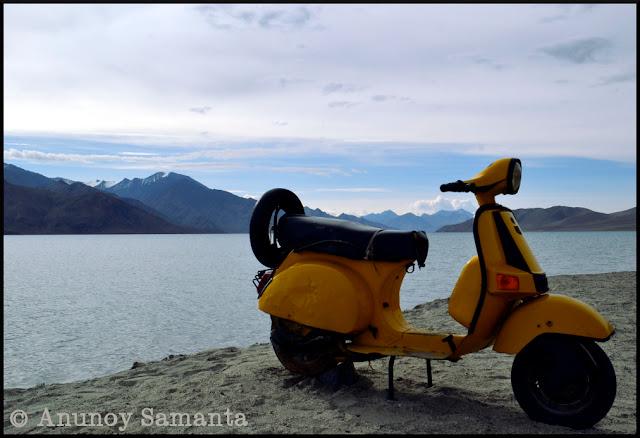 Pangong Tso Lake - from my Ladakh Motorcycle diary