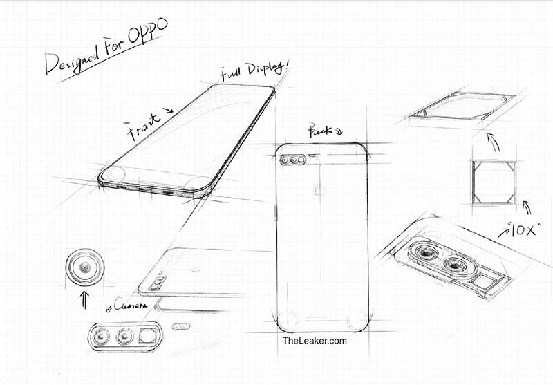 Leaked camera design patent of the phone with 10x zoom