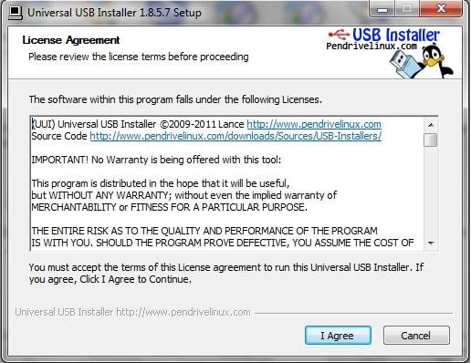 برنامج, ناسخ, توزيعات, اللينكس, على, الفلاش, ميمورى, Universal USB Installer, اخر, اصدار
