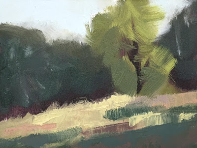 mini painting color study trees in the park May 21 2019