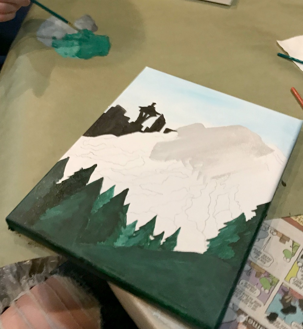 paint and wine night