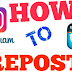 How to Repost Instagram Video