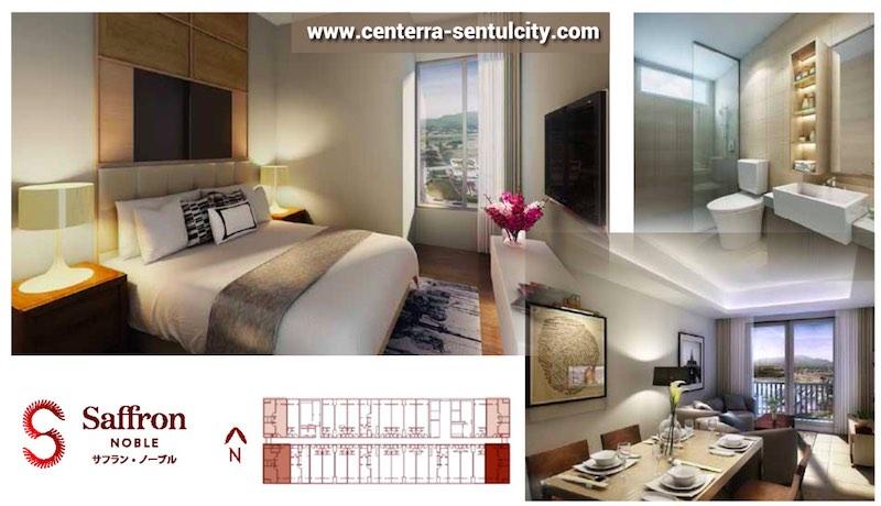 Saffron Noble Sentul City Apartment Bogor 2BR Type