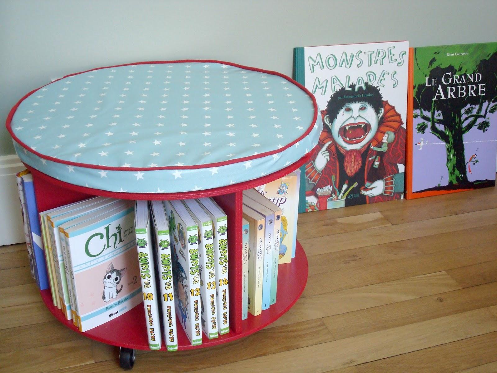 Tadaam !: DIY / Tuto ☆ Bibliothèque à roulettes - Bibliotheque Diy