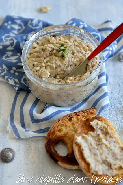 Mackerel rillettes with mustard, tarragon and white beans (lactose-free)