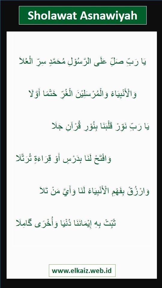 Teks Lirik Sholawat Asnawiyah - Elkaiz.web.id.JPEG